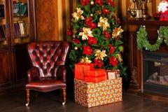 Fondo de la Feliz Navidad y del Año Nuevo Imágenes de archivo libres de regalías