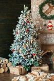 Fondo de la Feliz Navidad y del Año Nuevo Fotos de archivo