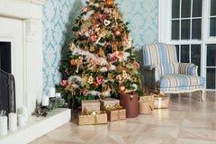 Fondo de la Feliz Navidad y del Año Nuevo Fotografía de archivo libre de regalías
