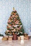 Fondo de la Feliz Navidad y del Año Nuevo Foto de archivo