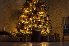 Fondo de la Feliz Navidad y del Año Nuevo Fotos de archivo libres de regalías