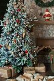 Fondo de la Feliz Navidad y del Año Nuevo Imagen de archivo libre de regalías