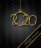 Fondo de la Feliz A?o Nuevo 2020 para sus invitaciones estacionales, carteles festivos, tarjetas de felicitaciones imagen de archivo libre de regalías
