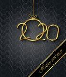 Fondo de la Feliz A?o Nuevo 2020 para sus invitaciones estacionales, carteles festivos, tarjetas de felicitaciones fotos de archivo