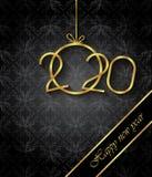 Fondo de la Feliz A?o Nuevo 2020 para sus invitaciones estacionales, carteles festivos, tarjetas de felicitaciones foto de archivo libre de regalías