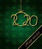 Fondo de la Feliz A?o Nuevo 2020 para sus invitaciones estacionales, carteles festivos, tarjetas de felicitaciones imágenes de archivo libres de regalías