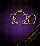 Fondo de la Feliz A?o Nuevo 2020 para sus invitaciones estacionales, carteles festivos, tarjetas de felicitaciones imagen de archivo