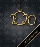 Fondo de la Feliz A?o Nuevo 2020 para sus invitaciones estacionales, carteles festivos, tarjetas de felicitaciones fotos de archivo libres de regalías