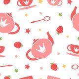 Fondo de la fiesta del té ilustración del vector