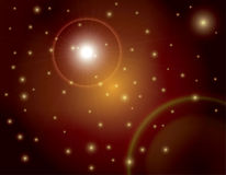 Fondo de la flama de Sun del espacio exterior stock de ilustración