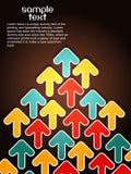 Fondo de la flecha de Elegent. Ilustración del vector Fotografía de archivo