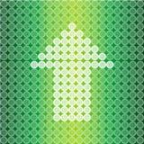Fondo de la flecha de la luz verde Fotografía de archivo libre de regalías