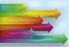 Fondo de la flecha del espectro stock de ilustración