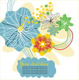 Fondo de la flor con la nube Fotografía de archivo libre de regalías