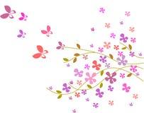 Fondo de la flor con las mariposas -3 Imagenes de archivo