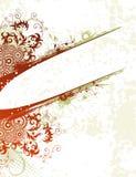 Fondo de la flor de Grunge ilustración del vector