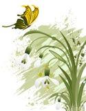 Fondo de la flor de Grunge libre illustration