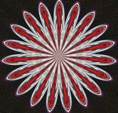 Fondo de la flor de los clips Imagen de archivo