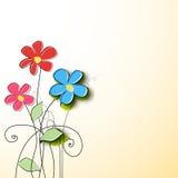 Fondo de la flor de papel libre illustration