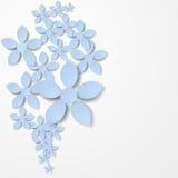 Fondo de la flor de papel ilustración del vector