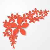 Fondo de la flor de papel stock de ilustración