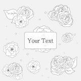 Fondo de la flor del contorno Imágenes de archivo libres de regalías
