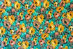 Fondo de la flor del modelo de la tela de la textura Imagen de archivo