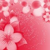 Fondo de la flor en rojo libre illustration