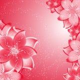 Fondo de la flor en rojo ilustración del vector