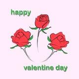 Fondo de la flor de Rose en ejemplos del vector del día de San Valentín stock de ilustración