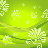 Fondo de la flora stock de ilustración
