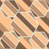 Fondo de la forma del diseño de la divisoria de la raya del tono de Brown Fotografía de archivo libre de regalías