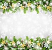 Fondo de la frontera de la Navidad Foto de archivo libre de regalías
