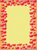 Fondo de la frontera del corazón Imágenes de archivo libres de regalías