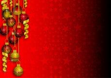 Fondo de la frontera de las decoraciones de la Navidad imagen de archivo