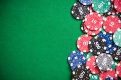 Fondo de la frontera de los juegos del casino fotografía de archivo