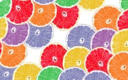 Fondo de la fruta cortada de la incisión de la fruta cítrica fotos de archivo