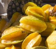Fondo de la fruta del Carambola, Imagen de archivo libre de regalías