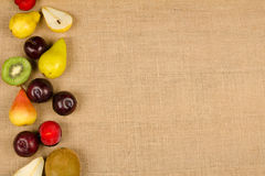 Fondo de la fruta fresca Fotografía de archivo libre de regalías