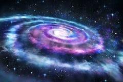 Fondo de la galaxia colorida en el universo stock de ilustración