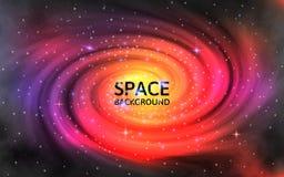Fondo de la galaxia Universo colorido abstracto con las estrellas chispeantes Nebulosa en espacio Contexto y stardust cósmicos stock de ilustración