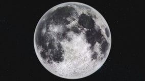 Fondo de la galaxia de la vía láctea del movimiento de la órbita de la luna de la vuelta almacen de metraje de vídeo