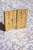 Fondo de la galleta del sésamo Imagenes de archivo