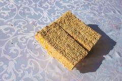 Fondo de la galleta del sésamo Fotografía de archivo