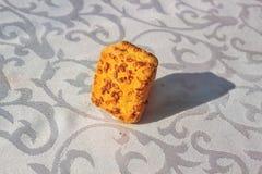 Fondo de la galleta del sésamo Fotos de archivo