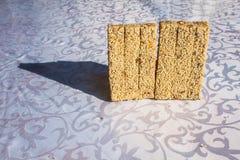Fondo de la galleta del sésamo Foto de archivo libre de regalías