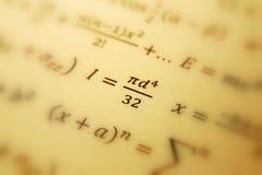 Fondo de la geometría de la matemáticas Fotografía de archivo