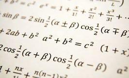 Fondo de la geometría de la matemáticas Imagen de archivo