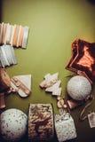 Fondo de la guirnalda de la Navidad Fotos de archivo libres de regalías
