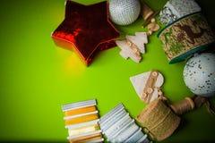Fondo de la guirnalda de la Navidad Fotos de archivo